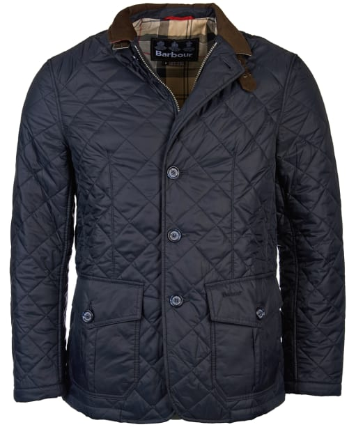 Men's Barbour Sander Quilted Jacket - Navy