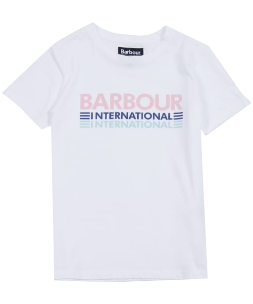 Girl's Barbour International Trackrace Tee, 6-9yrs - White