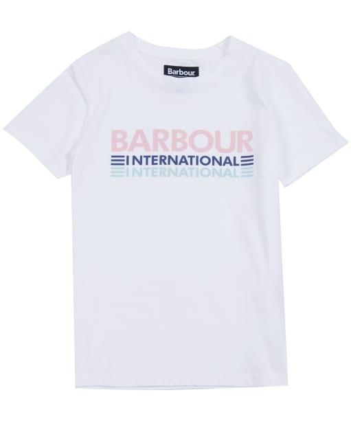 Girl's Barbour International Trackrace Tee, 10-15yrs - White