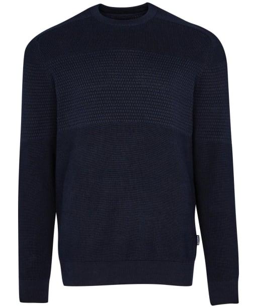 Men's Barbour Textured Block Knit - Navy