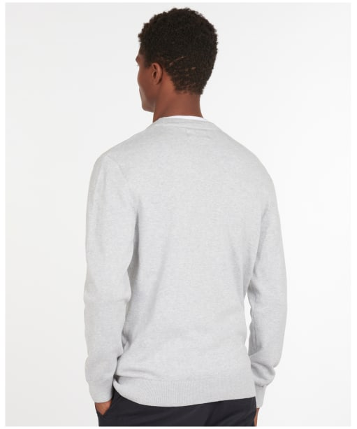 Men's Barbour Cotton Cardigan - Grey Marl