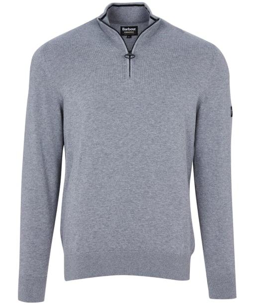 Men's Barbour International Cotton Half Zip Sweater - Anthracite Marl