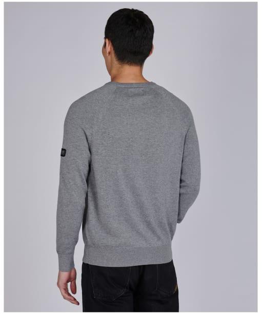 Men's Barbour International Cotton Crew Neck Sweater - Anthracite Marl