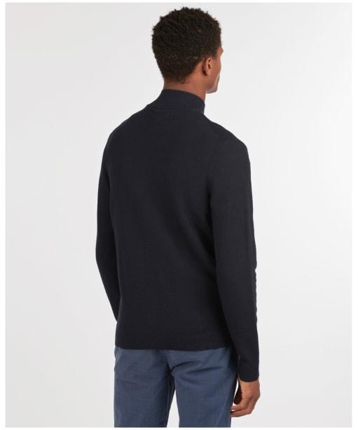 Men's Barbour Abhainn Zip Thru Sweater - Navy
