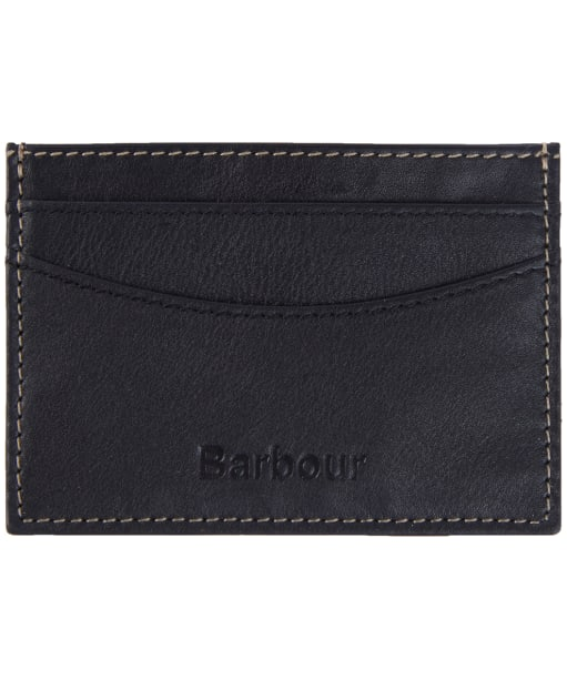 Men's Barbour Elvington Leather Cardholder - Black / Navy