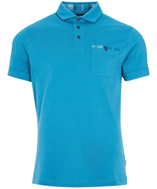 Men's Barbour Corpatch Polo Shirt - Blue Steel