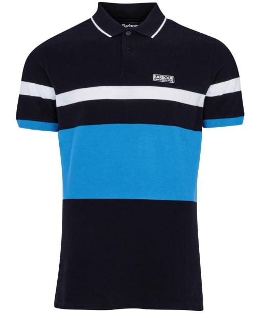 Men's Barbour International Clax Stripe Polo Shirt - Black