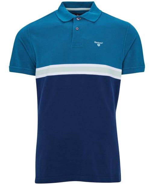 Men's Barbour Block Colour Polo Shirt - Lyons Blue