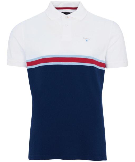 Men's Barbour Block Colour Polo Shirt - White