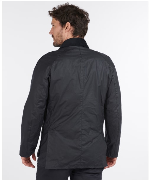 Men's Barbour Lightweight Ashby Waxed Jacket - Royal Navy