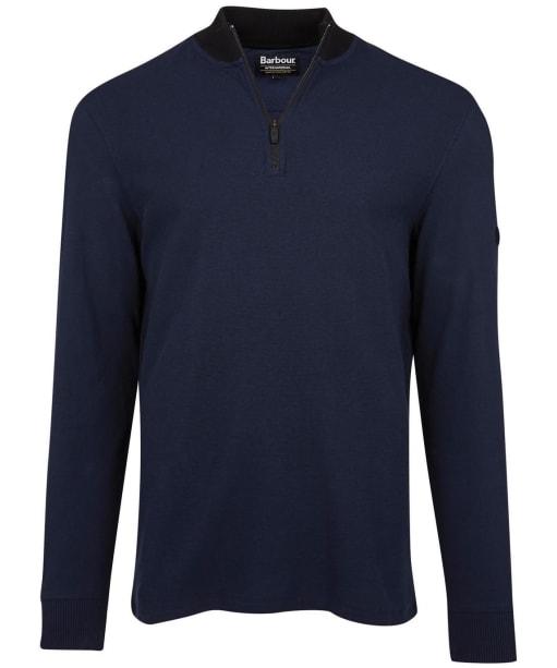 Men's Barbour International Reducer Half Zip Sweater - Navy