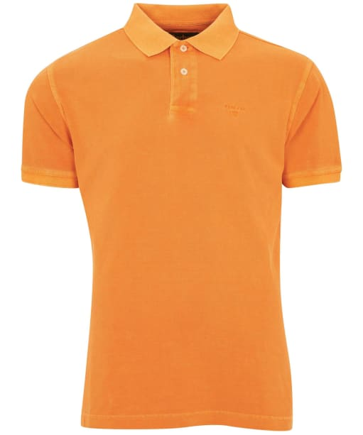 Washed Sports Polo - Acid Orange