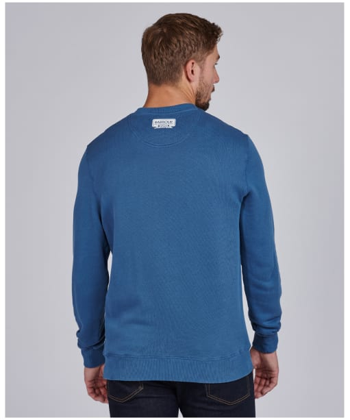 Men's Barbour International Famous Duke Sweater - Mid Blue