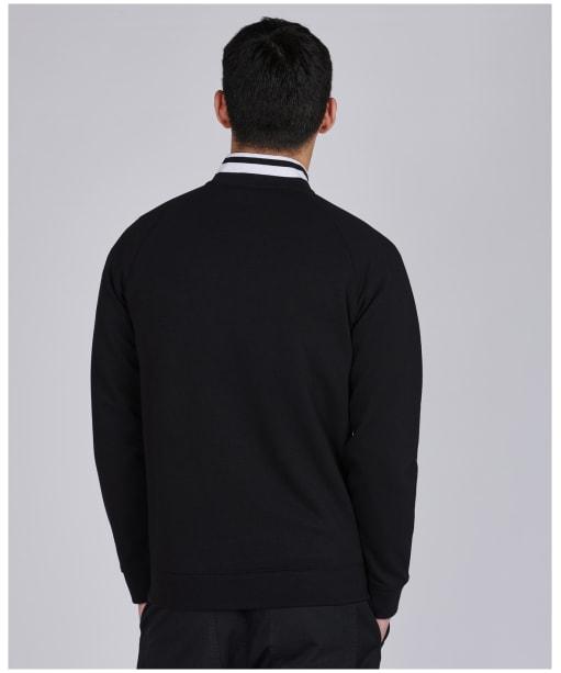Men's Barbour International Radius Raglan Zip Thru Sweater - Black