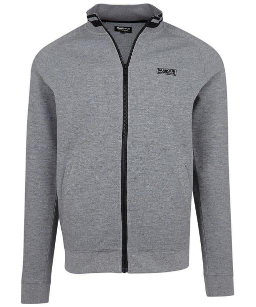 Men's Barbour International Radius Raglan Zip Thru Sweater - Anthracite Marl