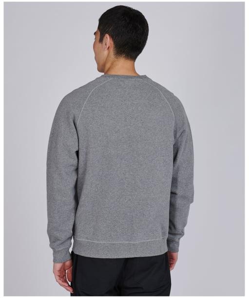 Men's Barbour International Flyer Crew Neck Sweater - Anthracite Marl