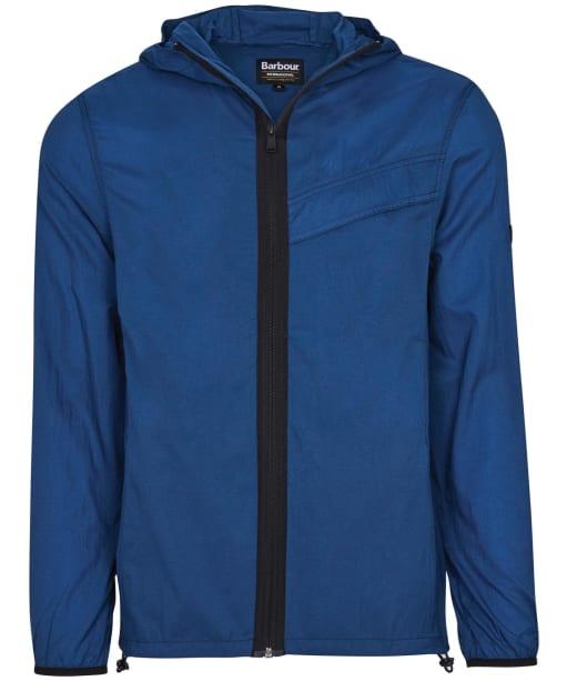 Men's Barbour International Knockhill Hoodie - Mid Blue