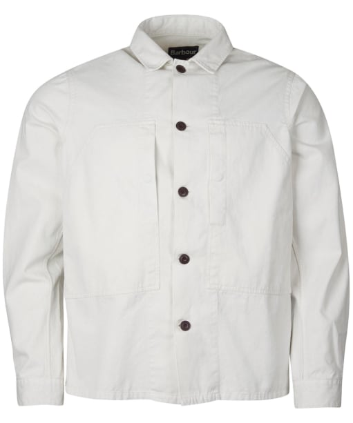 Men's Barbour Loweswater Overshirt - Chalk