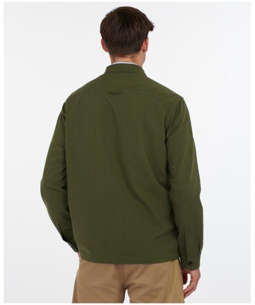 Men's Barbour Ulverston Overshirt - Mid Olive