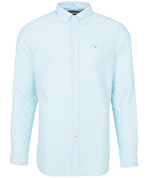 Men's Barbour Oxford 3 Tailored Shirt - Light Aqua