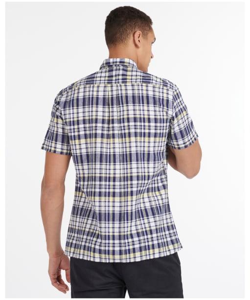 Men's Barbour Linen Mix 2 S/S Summer Shirt - Navy