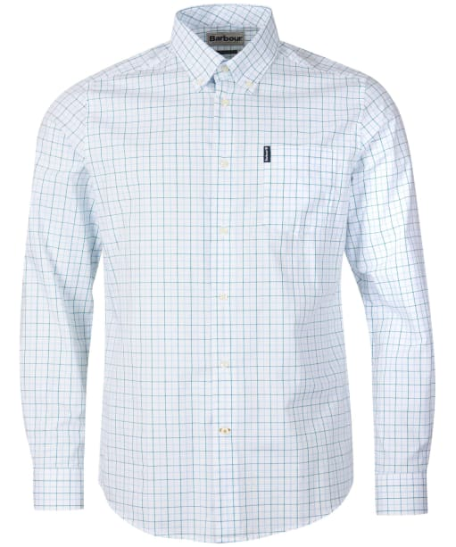 Men's Barbour Tattersall 16 Tailored Shirt - Light Blue
