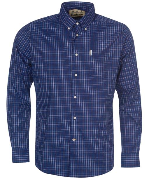 Men's Barbour Batley Performance Shirt - Navy Check