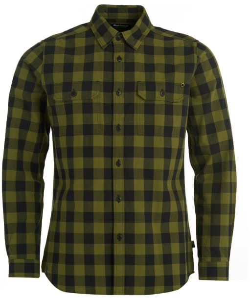 Men's Barbour International Bold Block Check Shirt - Black Check