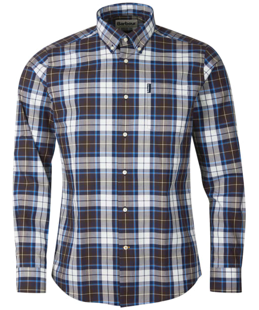 Men's Barbour Highland Check 39 Tailored Shirt - Brown Check