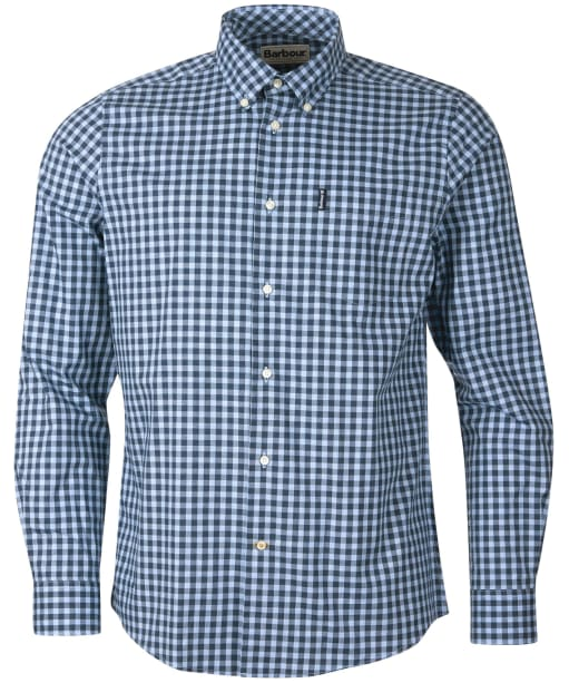 Men's Barbour Gingham 22 Tailored Shirt - Blue Check