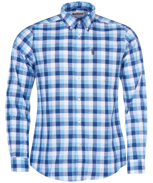 Men's Barbour Gingham 25 Tailored Shirt - Blue Check