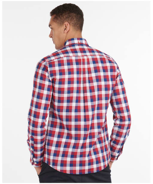 Men's Barbour Gingham 25 Tailored Shirt - Red Check