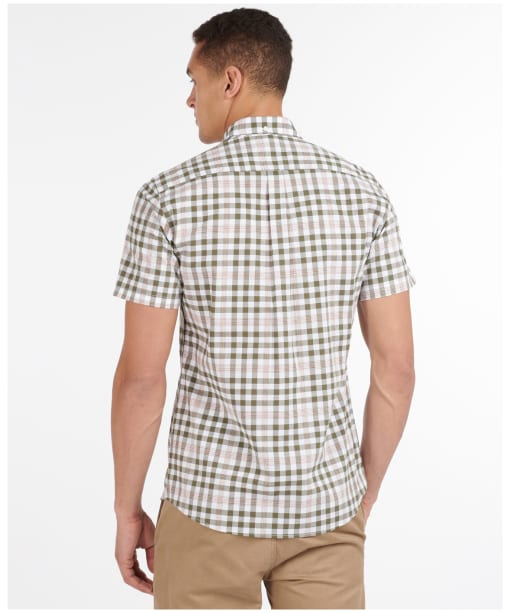 Men's Barbour Gingham 26 S/S Tailored Shirt - Mid Olive Check