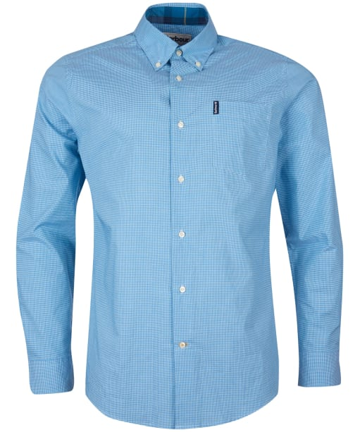 Men's Barbour Gingham 23 Tailored Shirt - Aqua