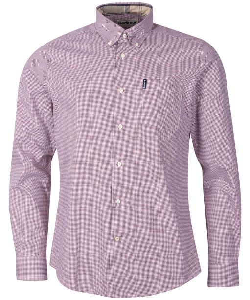 Men's Barbour Gingham 23 Tailored Shirt - Red