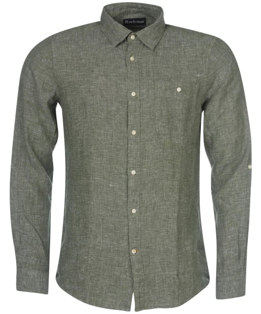 Men's Barbour Warkworth Shirt - Light Moss