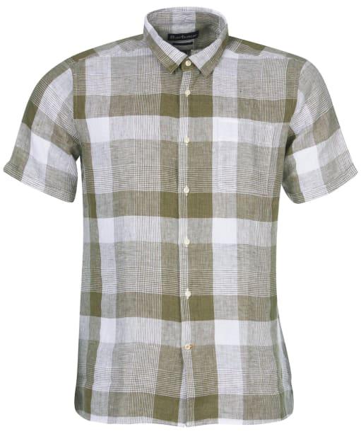 Men's Barbour Alnmouth Shirt - Light Moss Check