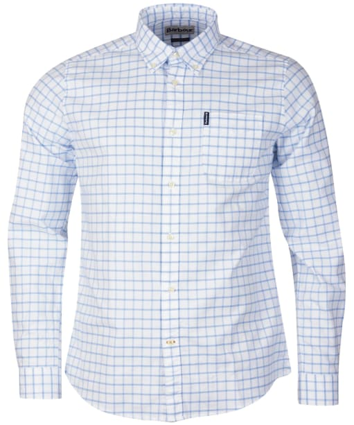 Men's Barbour Tattersall 23 Tailored Shirt - Blue Check