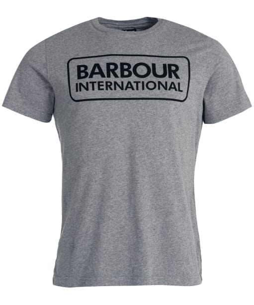 Men's Barbour International Essential Large Logo Tee - Anthracite