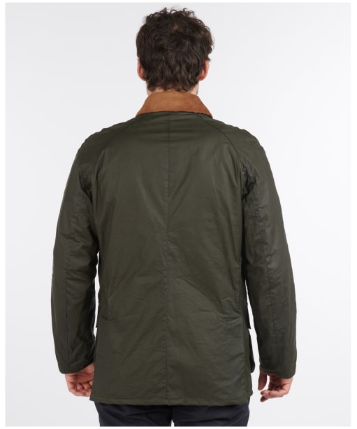 Men's Barbour Lightweight Ashby Waxed Jacket - Archive Olive