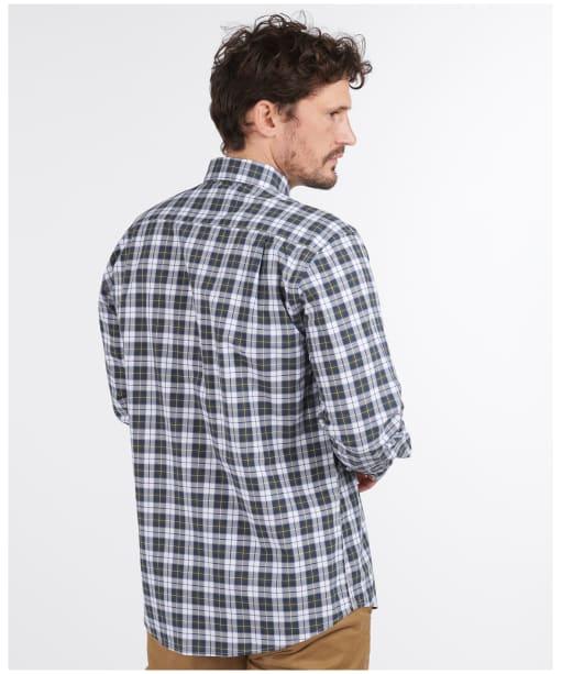 Men's Barbour Highland Check 28 Regular Fit Shirt - Olive Check