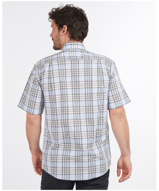 Men's Barbour Highland Check 26 Regular Fit S/S Shirt - Stone Check