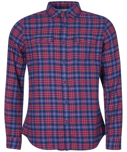 Men's Barbour International Steve McQueen Rock Shirt - Sunbleached Red
