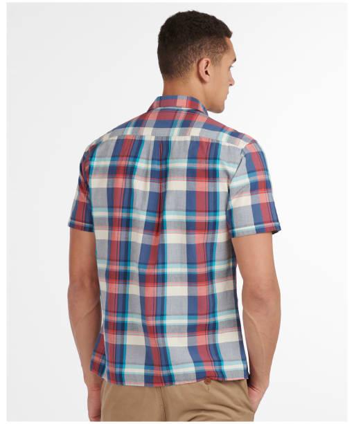 Men's Barbour Madras 7 S/S Summer Shirt - Blue Check