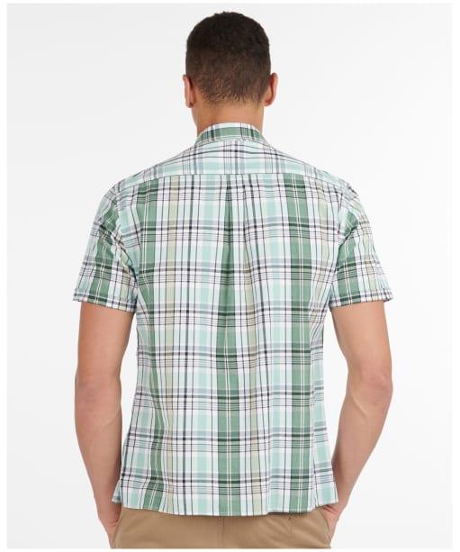 Men's Barbour Madras 7 S/S Summer Shirt - Green Check