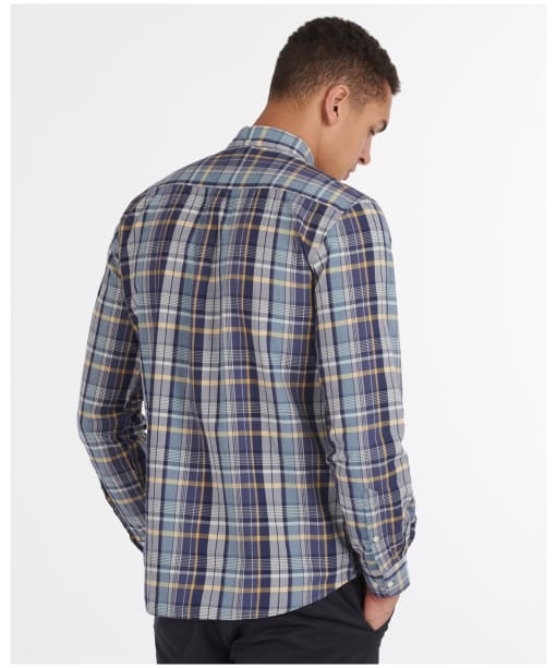 Men's Barbour Madras 8 Tailored Shirt - Inky Blue Check