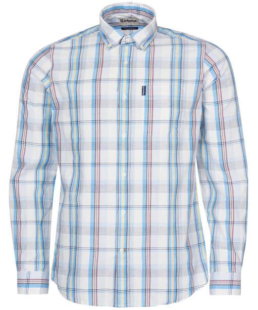 Men's Barbour Madras 10 Tailored Shirt - Ecru Check
