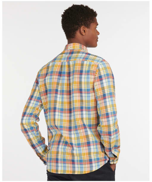 Men's Barbour Madras 10 Tailored Shirt - Rust Check