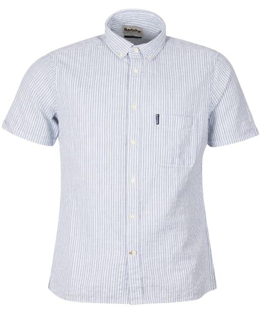 Men's Barbour Seersucker 10 S/S Tailored Shirt - Inky Blue
