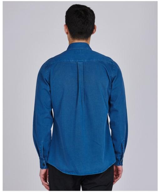 Men's Barbour International Circuits Shirt - Mid Blue